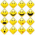 Set of Yellow Smileys