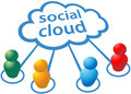 Social media cloud computing people connections