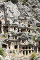 Ancient Lycian tombs in Myra