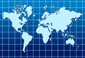 World map lined abstract background