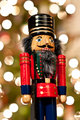 Nutcracker in Front of a Christmas Tree