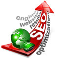 SEO positive red arrow