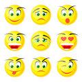 yellow smile icons