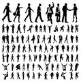 Very many high quality business people silhouettes