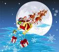 Santa in his sled