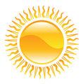 shiny sun illustration
