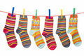 socks on the clothesline