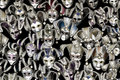 A lot of venetian carnival masks