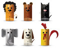 Animals - lion, bear, cat, elephant, dog, chicken