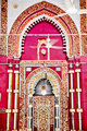 Golden Arch Jama't Khana Mosque Nizamuddin Complex Interior New