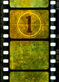 Vintage 35mm movie film reel