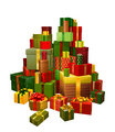 Illustration of large pile of gifts