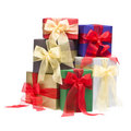 Colorful presents in a studio setting