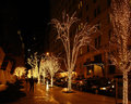 New York street scenery at Christmas time