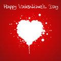Grunge Valentines day card