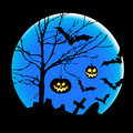 Halloween illustration with pumpkins