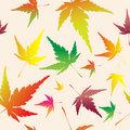 Maple leafs seamless pattern
