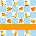 Colorful autumn rain seamless pattern