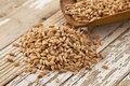 scoop of farro grain