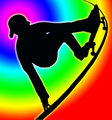 Color Circle Back Skateboarding Vert Ramp Grab