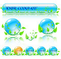 Abstract vector environmental theme elements. Website banners is
