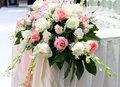 beautiful rose flower on the wedding.