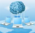 Computer brain computing concept