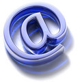 Email sign. Blue glass