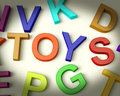 Toys Written In Plastic Kids Letters