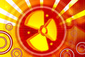 3d highly rendering radiation symbol in digital color background