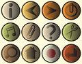 Woodcut icons