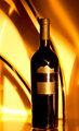 The golden wine bottle