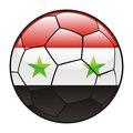 Syria flag on soccer ball