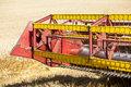 Combine Harvester in field