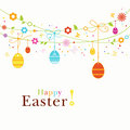 Colorful Happy Easter border