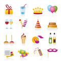 birthday and party icons