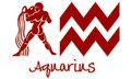 Aquarius Zodiac Signs - Red Sticker