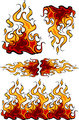 Group of  Flames Vector Design Templates