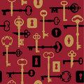 Skeleton Key-Lock Pattern_Red