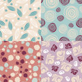 set of cute seamless backgrounds