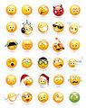 Set of 30 emoticons