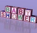 Kids Blocks Spelling Baby Shower As Symbol for Babies And Newbor