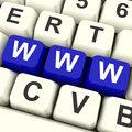 Www Computer Keys Showing Online Websites Or Internet