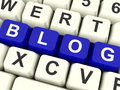 Blog Computer Keys In Blue For Blogger Website