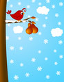 Christmas Partridge on a Pear Tree Winter Scene