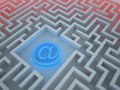 3D abstract Maze depicting web security issues