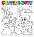 Coloring book ocean and mermaid 2