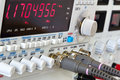 buttons and coaxial connctors of laboratory function generator w