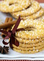 Sugar round cookies with spices