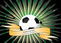 football background with banner